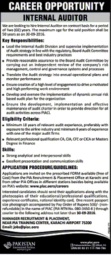 Internal Auditors Job in Pakistan International Airlines