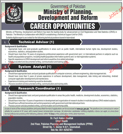 Technical Adivisors, System Analysts Job Opportunity