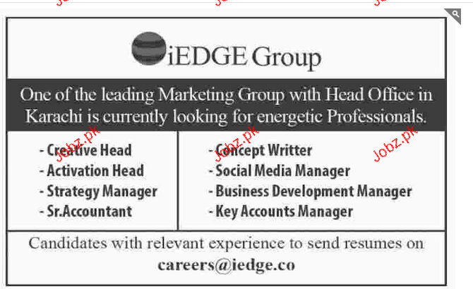 Creative Head, Activation Head, Social Media Manager Wanted