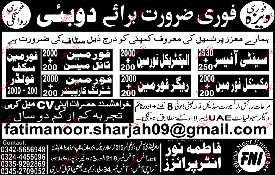 Safety Officers, Electrical Foreman Job Opportunity 2019 Job