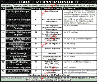 Project Manager, Horticulture Engineers Job Opportunity