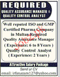 Quality Assurance Manager Job Opportunity