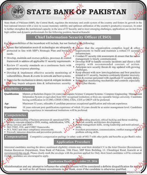 Chief Information Security Officers Job Opportunity