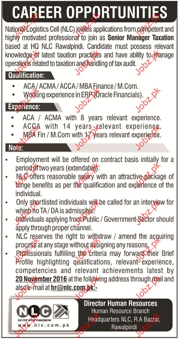 Manager Taxation wanted