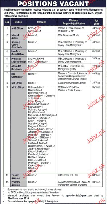 M & E Officers, Internal Auditors Job Opportunity