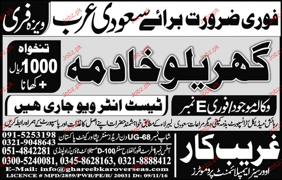 House Maids Job Opportunity