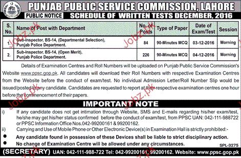 Sub Inspectors Job in Punjab Public Service Commission