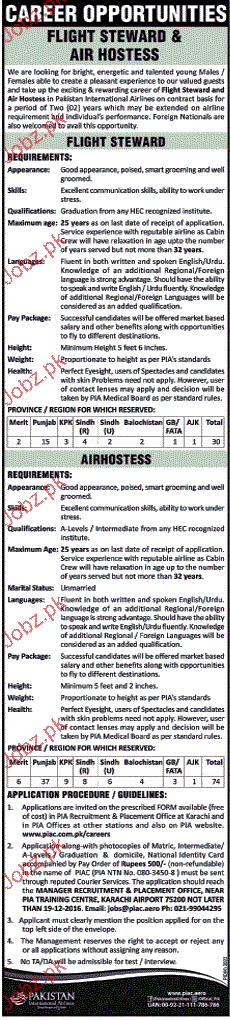 Flight Stewards and Airhostess Job Opportunity