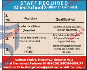 Academic Officers, Teachers and PTIs Job Opportunity