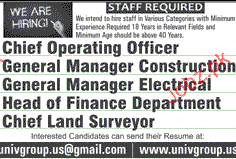 Chief operating officers general manager job opportunity 2019 job advertisement pakistan - Chief operating officer jobs ...