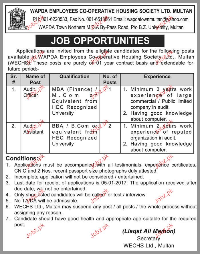Audit Officers and Audit Assistants Job Opportunity