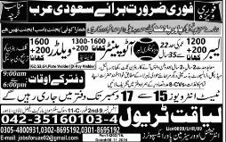 Labors, Auto Painters and Welders Job Opportunity