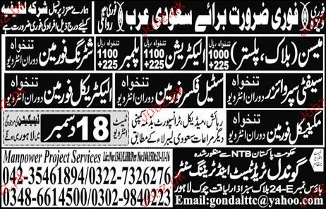 Mechancial Foreman, Electrical Foreman Job Opportunity