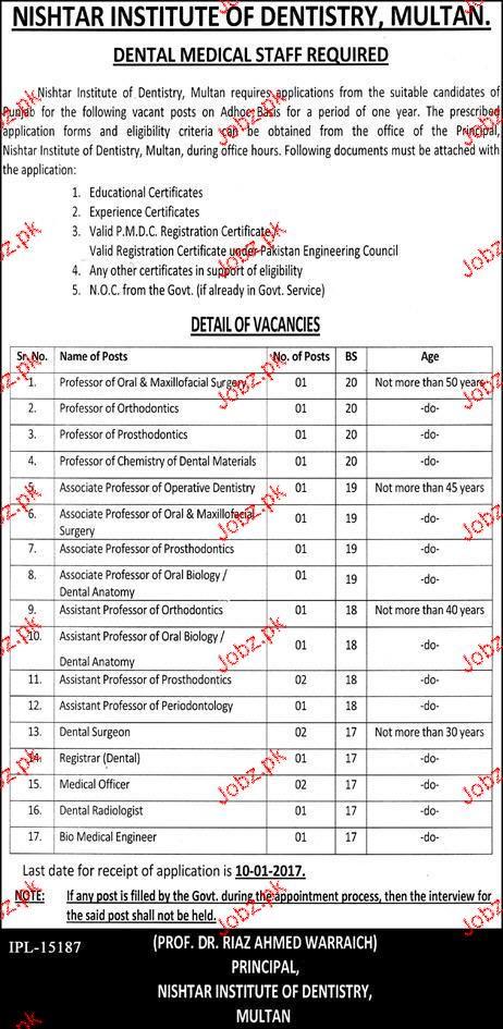 Professors, Associate Professors , Registrar Wanted