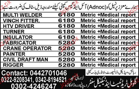 Multi Welders, HTV Drivers, Truners Job Opportunity