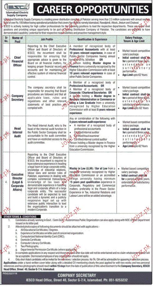 Chief Financial Officers, Company Secretary Job Opportunity