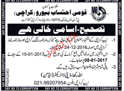 Male / Female Staff Job in National Accountability Bureau