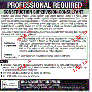 Construction Supervision Consultants Job Opportunity