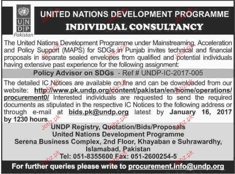 individual consultants job in undp 2019 job advertisement