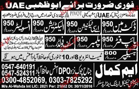 Helpers, Scaffolders, Plumbers, Electricians Wanted