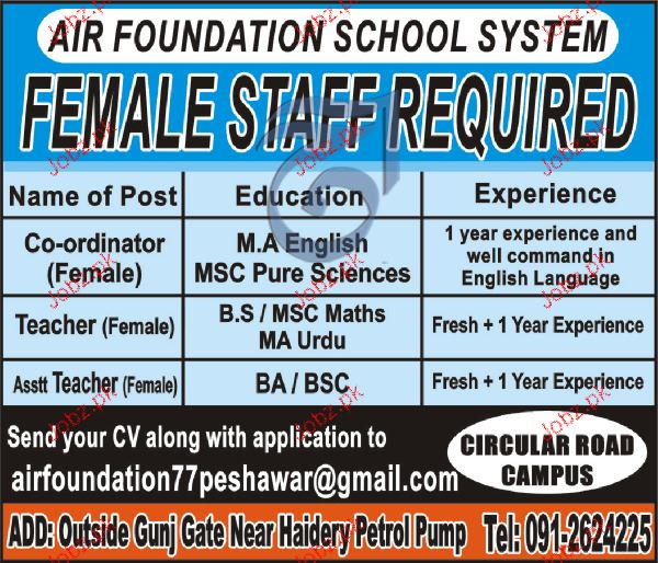 Coordinators and Teachers Job Opportunity