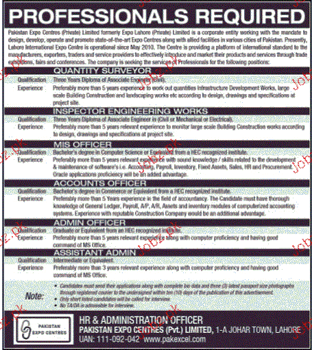 Quantity Surveyors, MIS Officers Job Opportunity