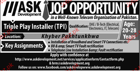 Triple Play Installers Job Opportunity