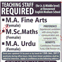 Teaching Staff Job Opportunity