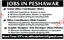Senior Office Coordinators and Coordinators Wanted