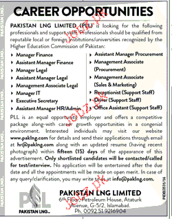 Manager Finance, Manager Legal Job Opportunity