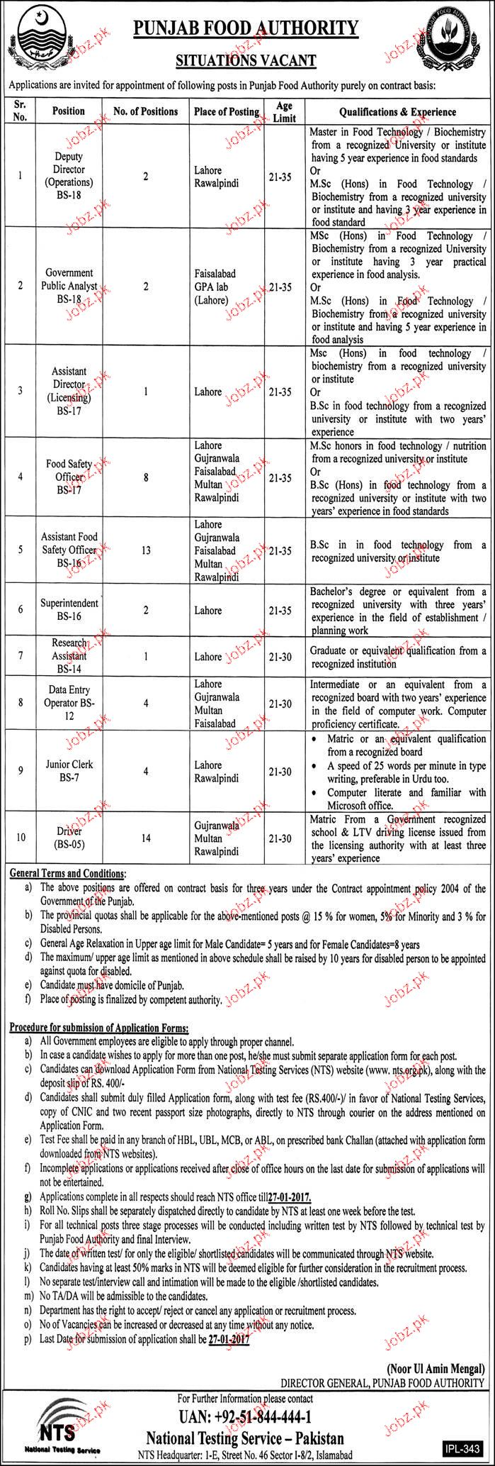 Deputy Director Operation, Government Public Analysts Wanted