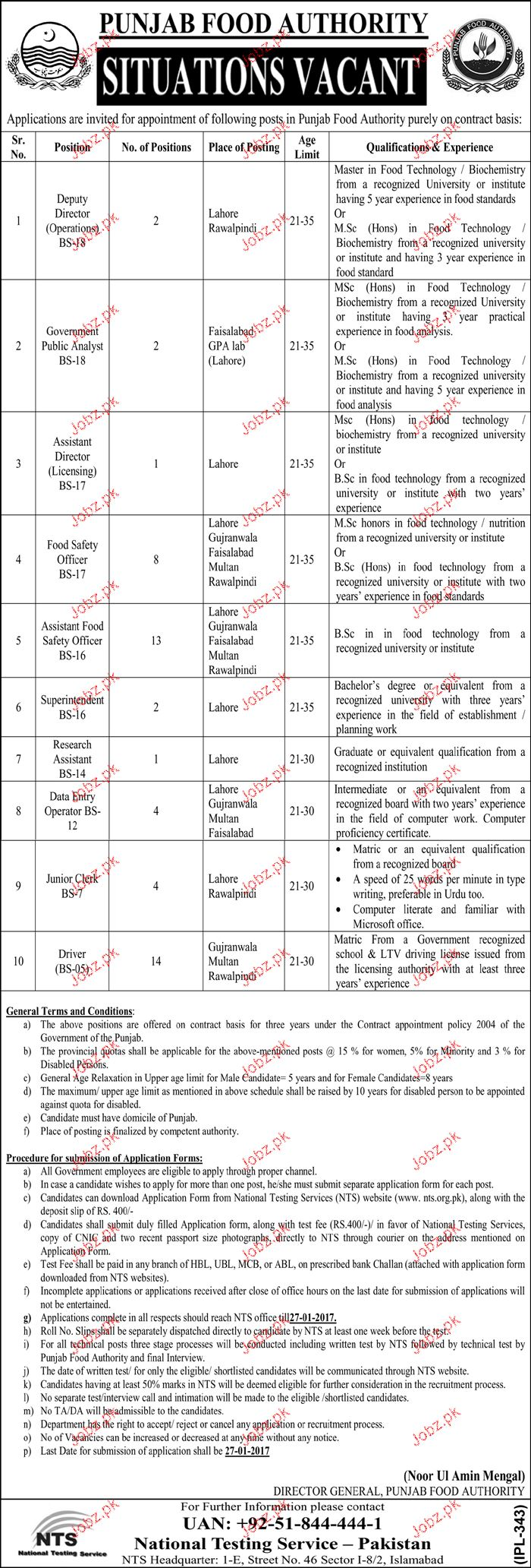 Food Safety Officers, Superintendent Job in Food Department
