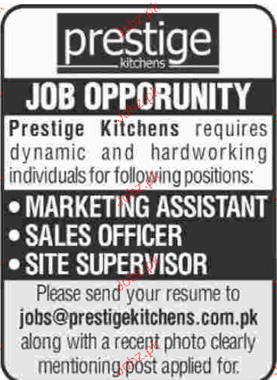 Marketing Assistants, Sales Officers Job Opportunity