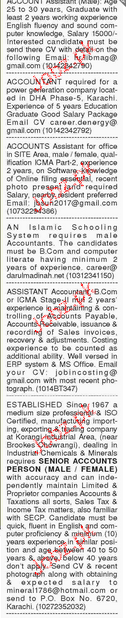 Finance Manager and Accountant Job Opportunity