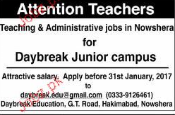 Teachers and Administrative Staff Job Opportunity