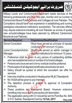 Jobs adult education consultant