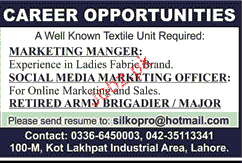 Marketing Manager, Marketing Officers Job Opportunity