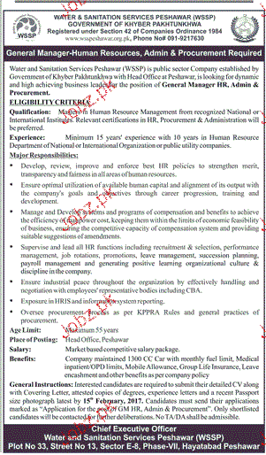 General Manager Human Resource Job Opportunity