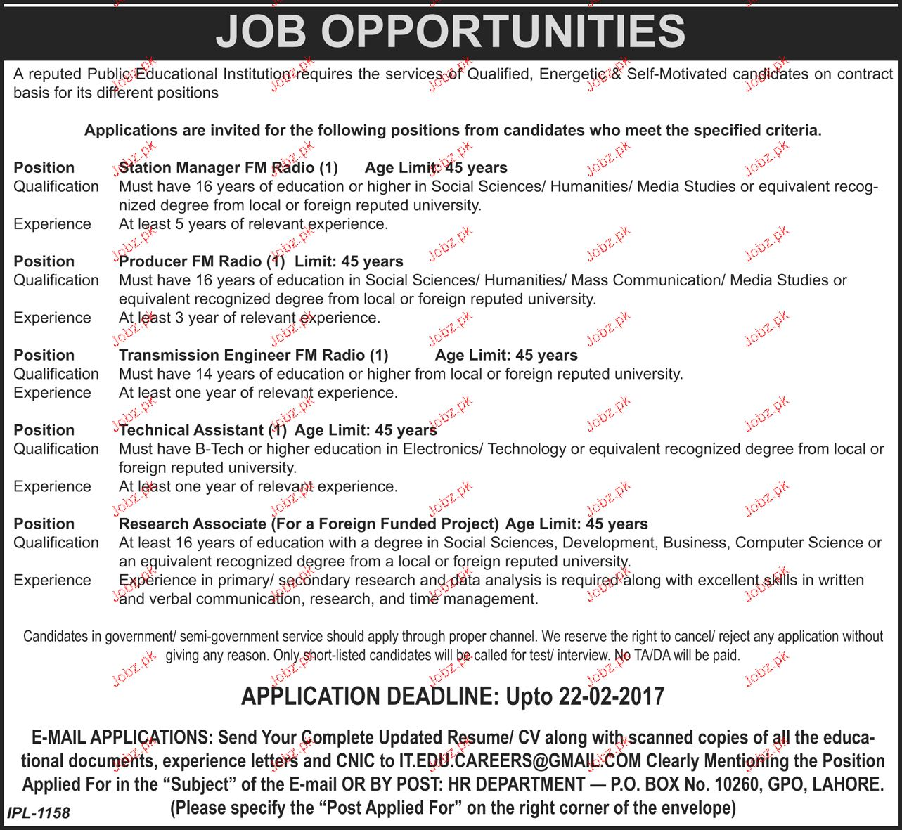 Station Manager, Producers, Transmission Engineers Wanted