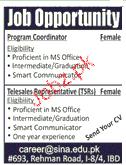 Program Coordinators and Telesales Staff Job Opportunity