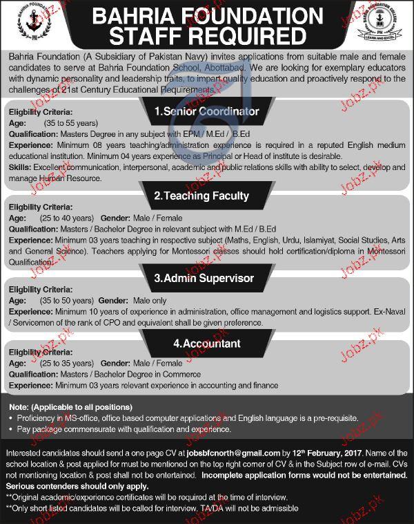 Senior Coordinators, Admin Supervisors Job Opportunity