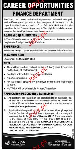 Director Finance Job in Pakistan International Airlines