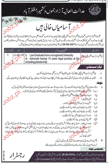 Additional District Session Judges Job in District Court