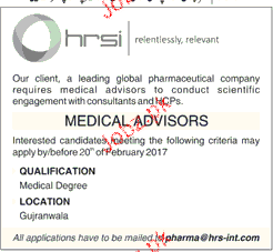 Medical Advisors Job Opportunity