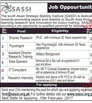 Director Research, Assistant Director Job Opportunity
