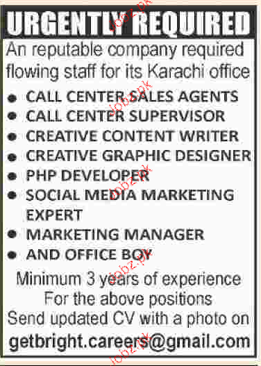 Call Center Sales Agents, Call Center Supervisor Wanted