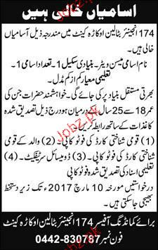 Mess Waiters Job in Pakistan Army