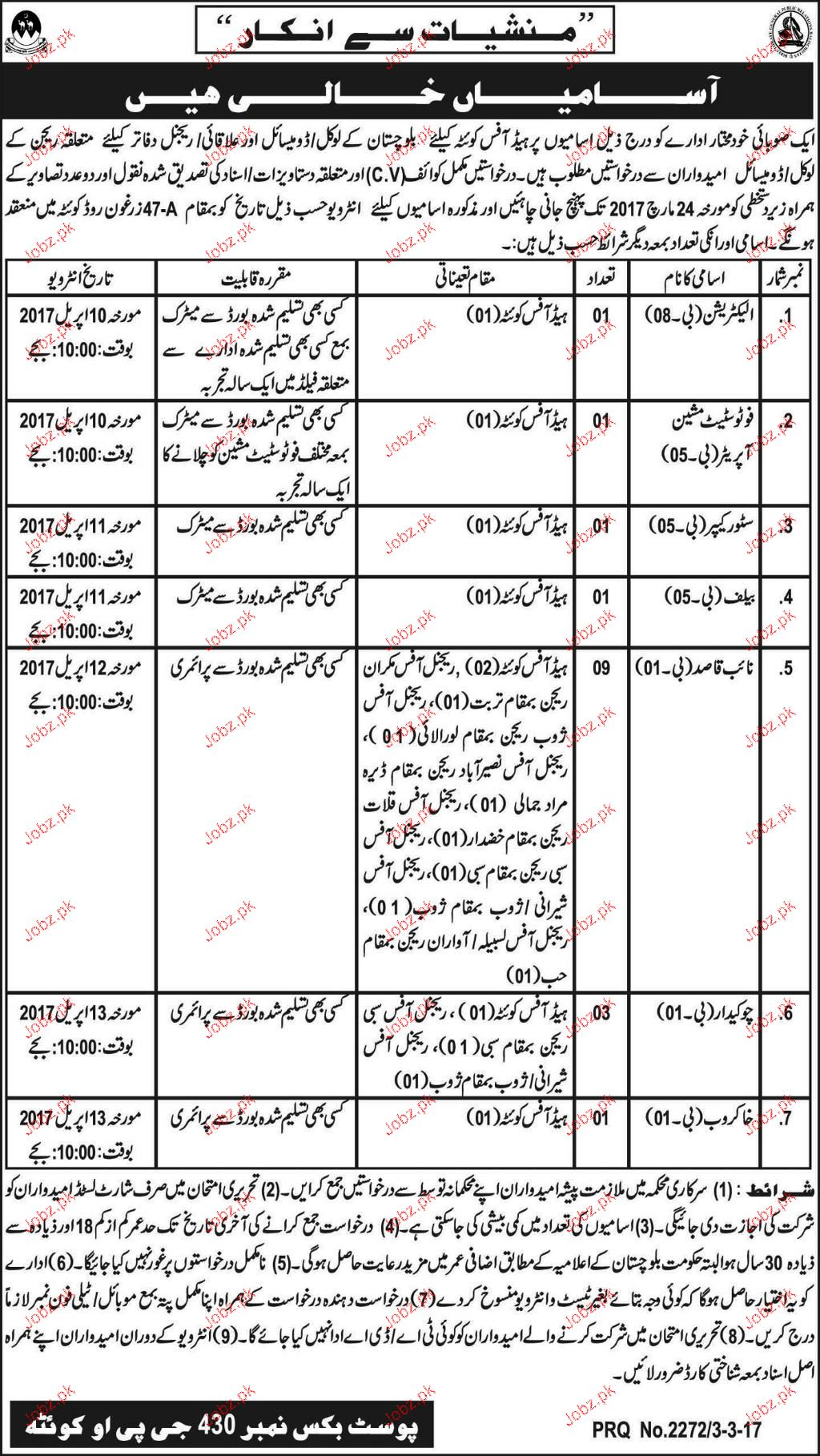 Electricians, PHotostate Machine Operators Job Opportunity