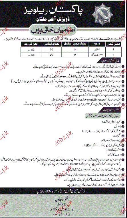 Drivers and Assistant Drivers Job in Pakistan Railway