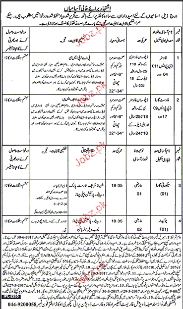 Foresters, Forest Guards and Chawkidars Job in Forest Dept
